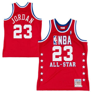 "RED ALL STAR ""JORDAN"" #23 BASKETBALL THROWBACK JERSEY - ThrowbackJerseys.com"