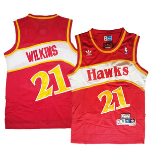 "RED HAWKS ""WILKINS"" #21 BASKETBALL THROWBACK JERSEY - ThrowbackJerseys.com"