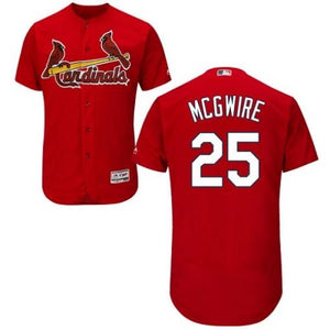 "RED ST. LOUIS ""MCGWIRE"" #25 BASEBALL THROWBACK JERSEY - ThrowbackJerseys.com"