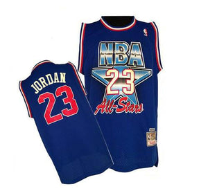 "ROYAL BLUE ALL STAR ""JORDAN"" #23 BASKETBALL THROWBACK JERSEY - ThrowbackJerseys.com"