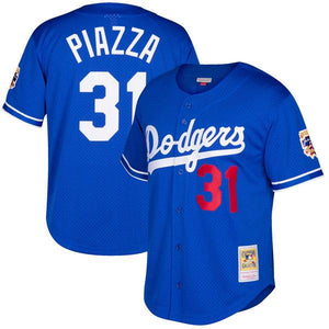 ROYAL BLUE LOS ANGELES PIAZZA #31 BASEBALL THROWBACK JERSEY - ThrowbackJerseys.com
