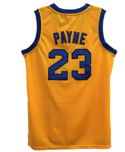 YELLOW #23 MARTIN PAYNE BASKETBALL THROWBACK MOVIE JERSEY