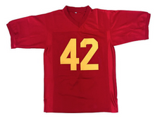RED #42 RICKY FOOTBALL THROWBACK MOVIE JERSEY - ThrowbackJerseys.com