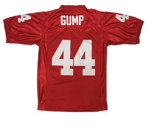 BURGUNDY #44 GUMP FOOTBALL THROWBACK MOVIE JERSEY