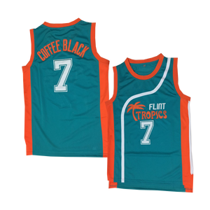 "TEAL ""COFFEE BLACK"" #7 BASKETBALL THROWBACK MOVIE JERSEY"