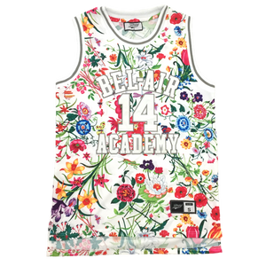 FLORAL WHITE FRESH PRINCE OF BEL-AIR JERSEY WILL SMITH #14 BASKETBALL THROWBACK JERSEY