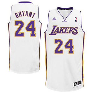 "WHITE & PURPLE LOS ANGELES ""BRYANT"" #24 BASKETBALL THROWBACK JERSEY - ThrowbackJerseys.com"