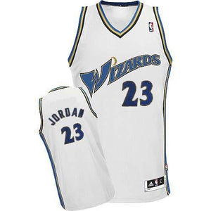 "WHITE WIZARDS ""JORDAN"" #23 BASKETBALL THROWBACK JERSEY - ThrowbackJerseys.com"