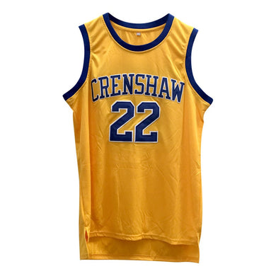 YELLOW MCCALL #22 CRENSHAW HIGH SCHOOL GOLD BASKETBALL THROWBACK MOVIE JERSEY - ThrowbackJerseys.com