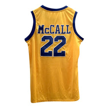 YELLOW MCCALL #22 CRENSHAW HIGH SCHOOL GOLD BASKETBALL THROWBACK MOVIE JERSEY