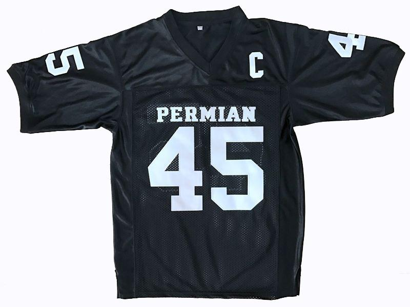 BLACK MILES #45 PERMIAN FOOTBALL THROWBACK MOVIE JERSEY - ThrowbackJerseys.com