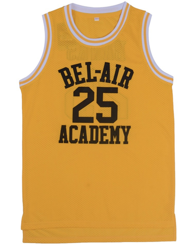 YELLOW BANKS FRESH PRINCE OF BEL-AIR JERSEY  #25 BASKETBALL THROWBACK JERSEY