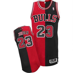 "HOME & AWAY SPLIT BLACK AND RED CHICAGO ""JORDAN"" #23 BASKETBALL THROWBACK JERSEY"