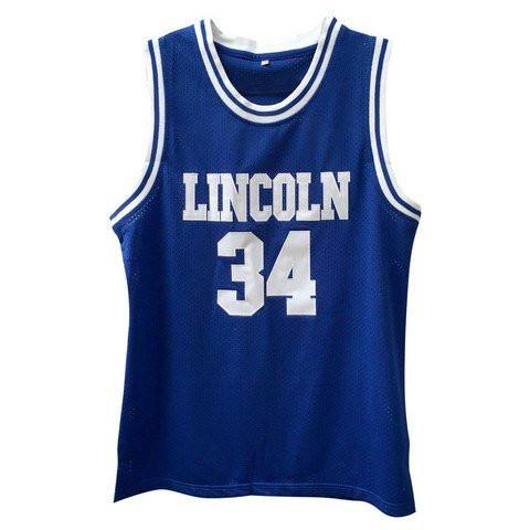 BLUE #34 LINCOLN SHUTTLESWORTH BASKETBALL THROWBACK MOVIE JERSEY - ThrowbackJerseys.com