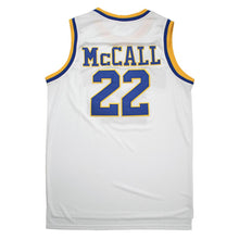 Load image into Gallery viewer, MCCALL #22 CRENSHAW HIGH SCHOOL WHITE BASKETBALL THROWBACK MOVIE JERSEY