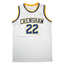 MCCALL #22 CRENSHAW HIGH SCHOOL WHITE BASKETBALL THROWBACK MOVIE JERSEY - ThrowbackJerseys.com