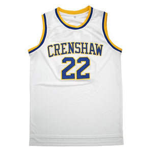 MCCALL #22 CRENSHAW HIGH SCHOOL WHITE BASKETBALL THROWBACK MOVIE JERSEY