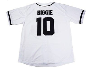 WHITE BAD BOY #10 BIGGIE BASEBALL MUSIC THROWBACK JERSEY - ThrowbackJerseys.com