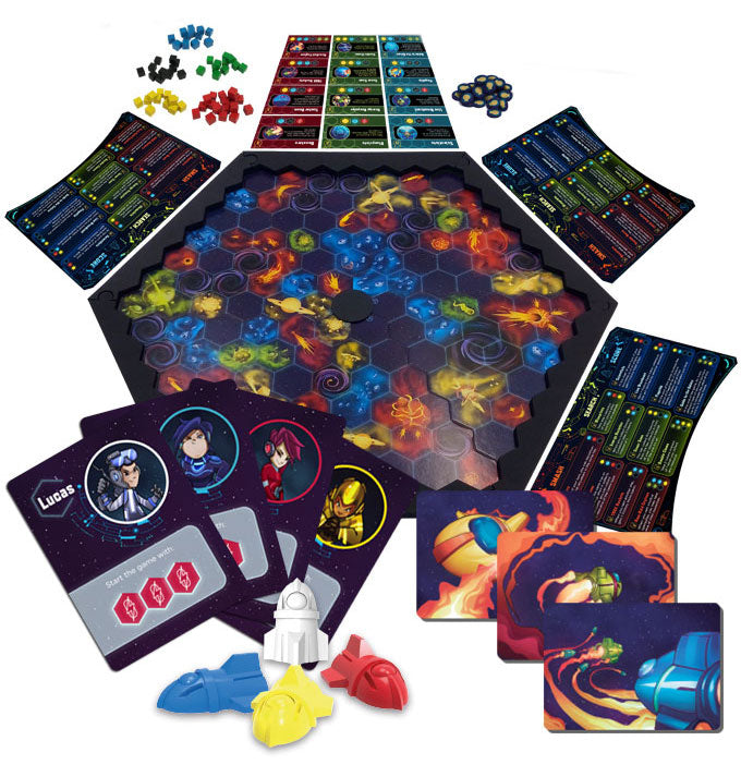 Flicky Spaceships boardgame + exclusive cards