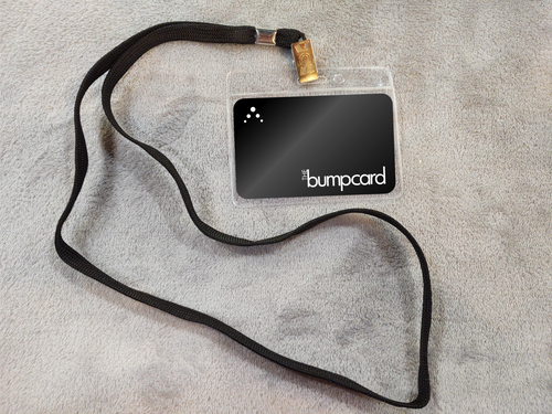 Bump Card Holder with Lanyard