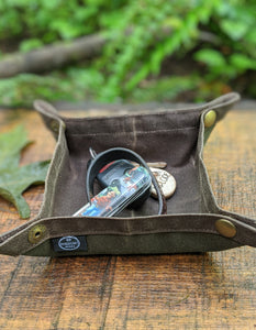 Waxed Canvas Travel Tray for your Gear or EDC - PNW BUSHCRAFT