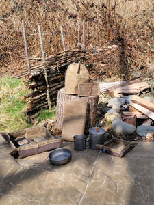 Bushcraft Waxed Canvas and Titanium Gear Bundle