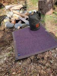 Wool Lined Brown Waxed Canvas Junior Ground Cloth for Bushcraft
