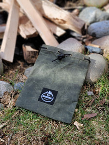 Green Waxed Canvas Ditty Bag