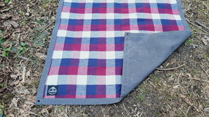 Colorful Flannel and Waxed Canvas Groundcloth