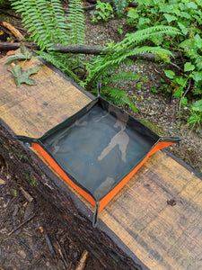 Camo and Orange XL Waxed Canvas Travel Tray