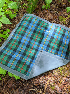 Wool Lined Waxed Canvas Junior Ground Cloth for Bushcraft