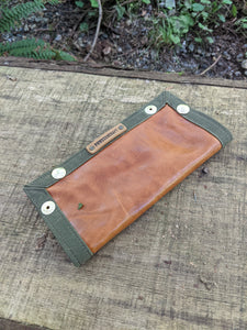 Leather and Waxed Canvas Travel Tray for your Gear or EDC - PNW BUSHCRAFT