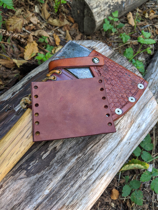 Leather Small Forest Axe Collar