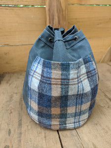 Vintage Wool and Blue Canvas 3 Piece Combo