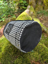 Black Cedar Bucket Bag with Vintage Wool Pockets