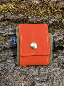 Orange Rugged Waxed Canvas Foraging Pouch, Hip Bag