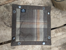 Wool and Brown Waxed Canvas Travel Tray for your Gear or EDC