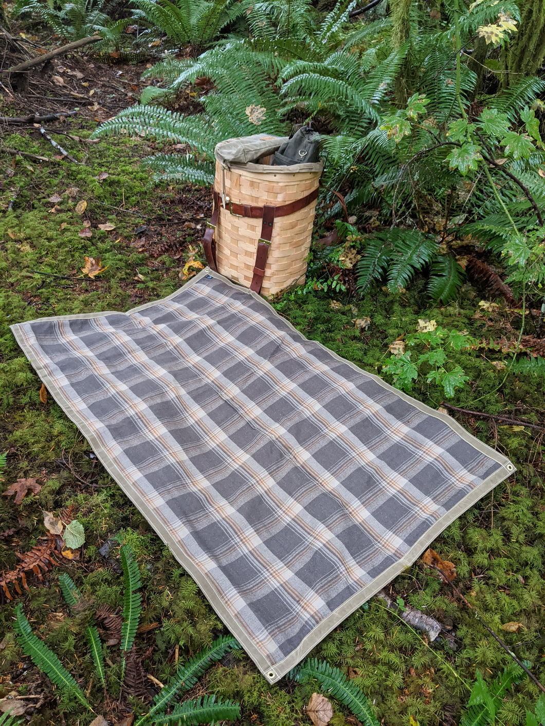 Wool and Tan Waxed Canvas Groundcloth