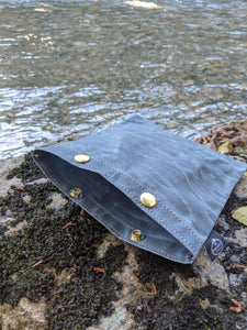 Blue Waxed Canvas Ditty Bag