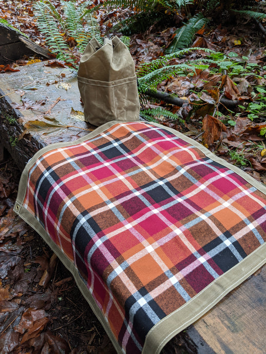 Flannel Lined Waxed Canvas Junior Ground Cloth for Bushcraft