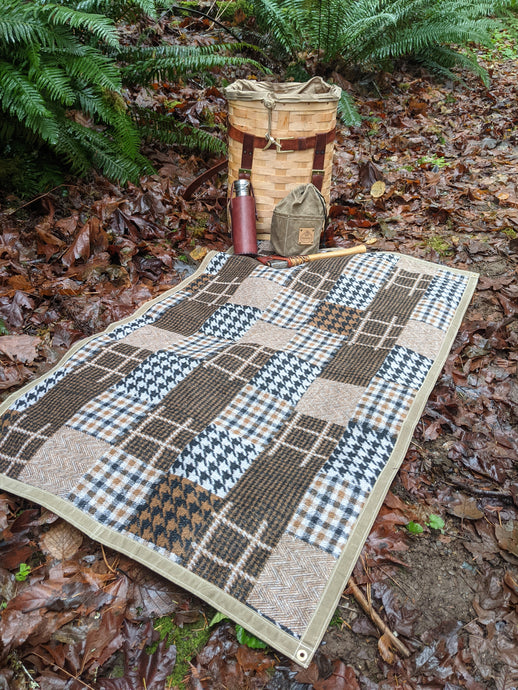 Wool and Tan Waxed Canvas Groundcloth - PNW BUSHCRAFT