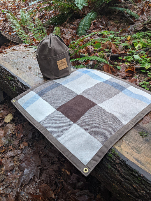 Pendleton Wool Lined Waxed Canvas Junior Ground Cloth for Bushcraft
