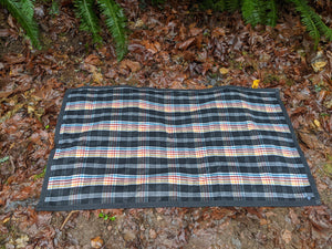 Black Waxed Canvas Wool Lined Groundcloth - PNW BUSHCRAFT