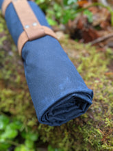 Colorful Vintage Wool and Waxed Canvas Groundcloth - PNW BUSHCRAFT
