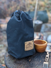 Flannel Lined Black Bucket Bag - PNW BUSHCRAFT