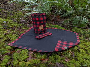 Limited Edition Buffalo Plaid Waxed Canvas Outdoor Gear Sets