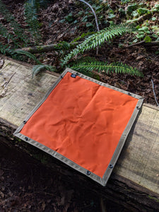 Tan and Orange XL Waxed Canvas Travel Tray