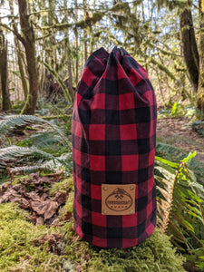 Limited Edition Buffalo Plaid Canvas Bucket Bag 2 Sizes