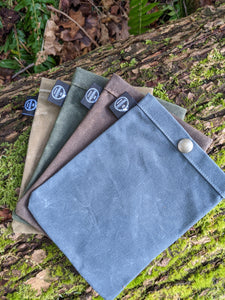 Set of 4 Waxed Canvas Ditty Bags with Snaps