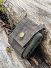 Rugged Waxed Canvas Foraging Pouch, Hip Bag